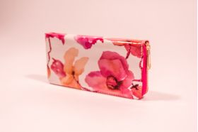 Portofel roz model floral