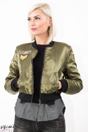 Jachetă aviator verde