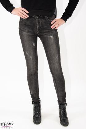 Jeans negru cu rupturi