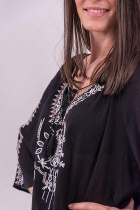 Bluză gen ie cu elemente tradiționale