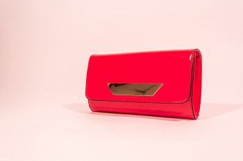 Poșetă plic roșie lăcuită