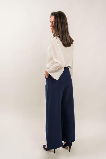 Pantaloni evazați - culottes albaștri