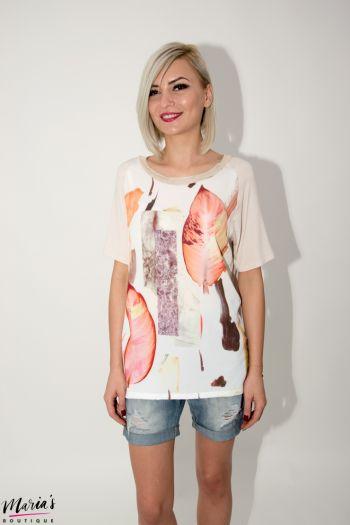 Bluză cu imprimeu fruze