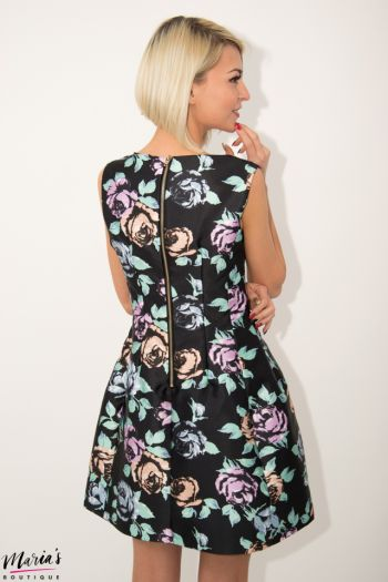 Rochie de seară cu imprimeu floral