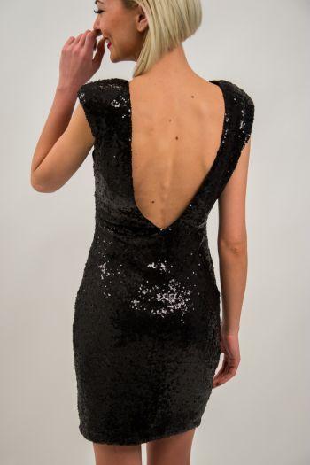 Rochie de seară neagră din paiete