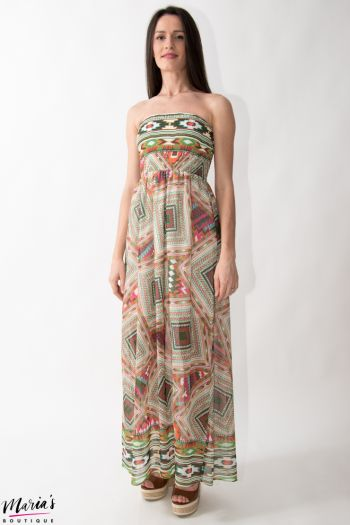 Rochie maxi cu imprimeu multicolor
