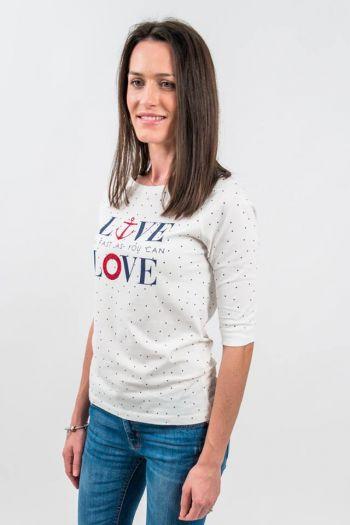 "Tricou alb marinăresc""LOVE"""