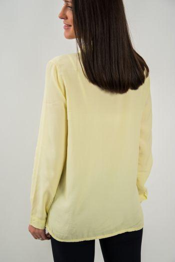 Cămașă galbenă cu tăieturi laterale