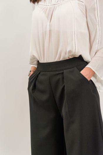 Pantaloni evazați - culottes negri